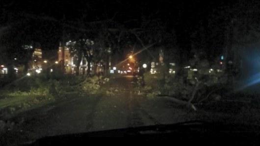 Ночная буря воЛьвове: ветер срывал крыши ивалил деревья